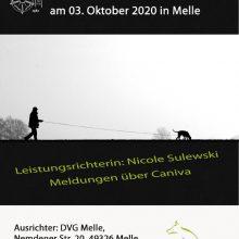 Landesmeisterschaft IFH 2 Ravensberg-Lippe am 03.10.2020 beim DVG Melle