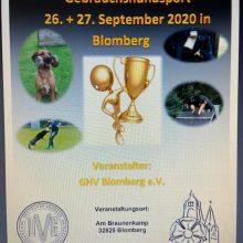 Landesverbands Meisterschaft Ravensberg – Lippe GHS – IGP 3 am 26.-27.September 2020 beim GHV Blomberg